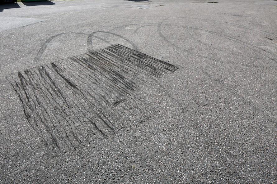 Charcoal shadow drawing