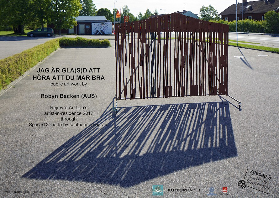 Poster for the opening in Rejmyre