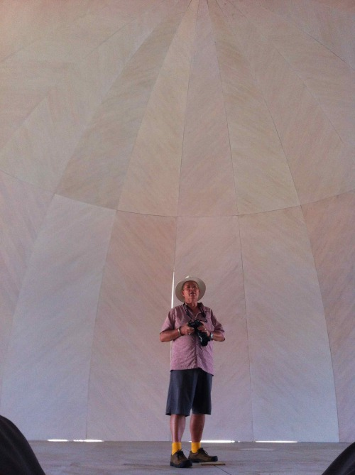 Nigel testing the acoustics and it is amazing.