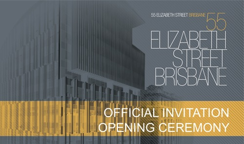 The official opening for the building 55 Elizabeth Street and the artwork Night Watch