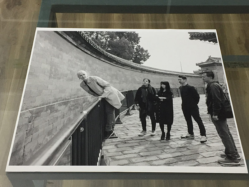Photo taken at the echo wall as a homage to Gough Whitlam's prescient visit to Beijing in the early 1970's. The photos responds to the recent changes to the wall. It is no longer possible to listen to the whisper, due to the inscriptions left in the wall by the visitors.