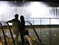 Veiw from the lower escalator